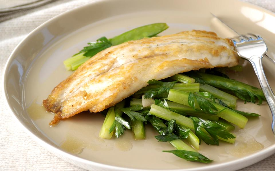 Celery stir-fry with barramundi recipe   FOOD TO LOVE