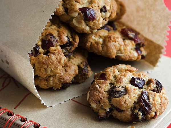 Cranberry and oat biscuits