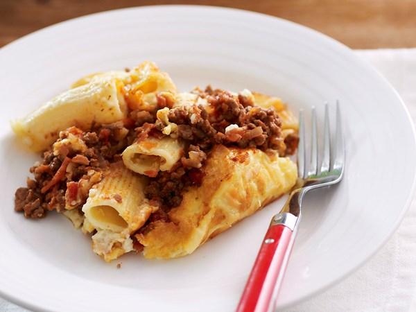 how to make creamy pasta bake