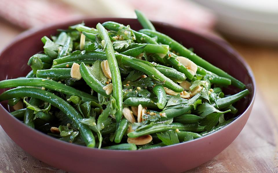 Green bean, watercress and almond salad recipe | FOOD TO LOVE