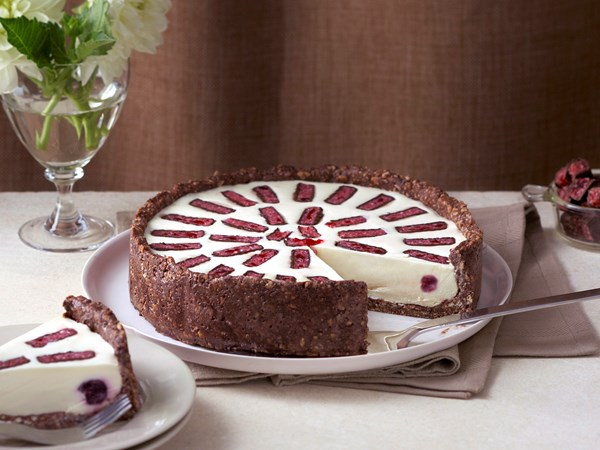 Cherry-choc cheesecake