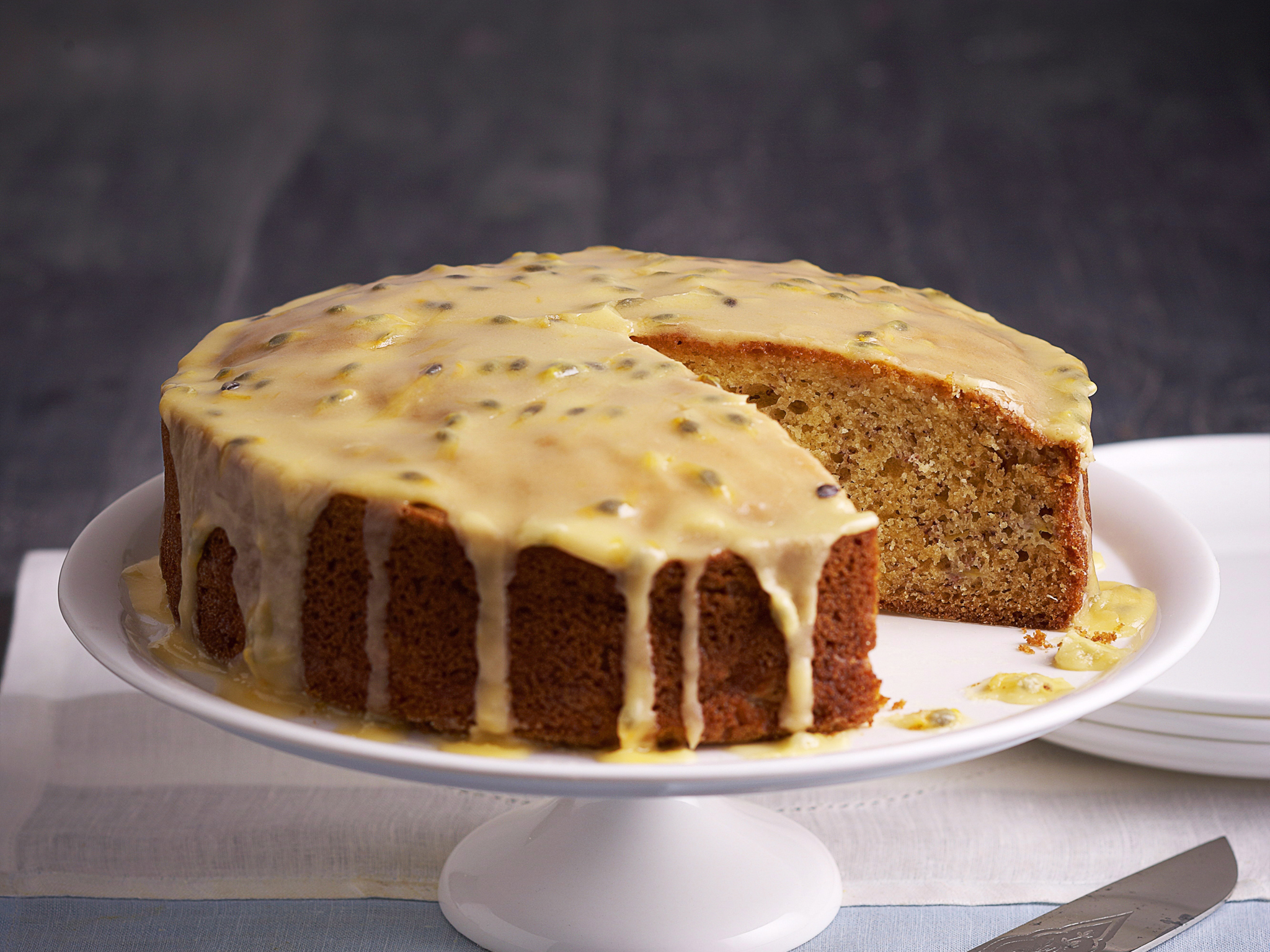 Dairy Free Banana Cake With Passionfruit Icing Recipe Food To Love