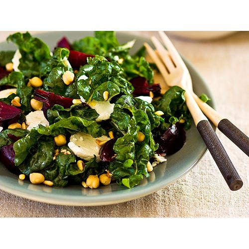 Silverbeet, beetroot and sheep's milk feta salad recipe | Food To Love