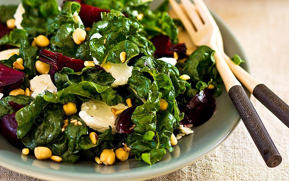 Silverbeet, beetroot and sheep's milk feta salad recipe ...