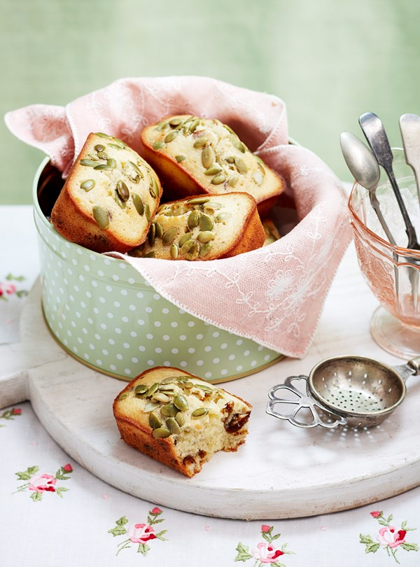 Almond, date and seed friands