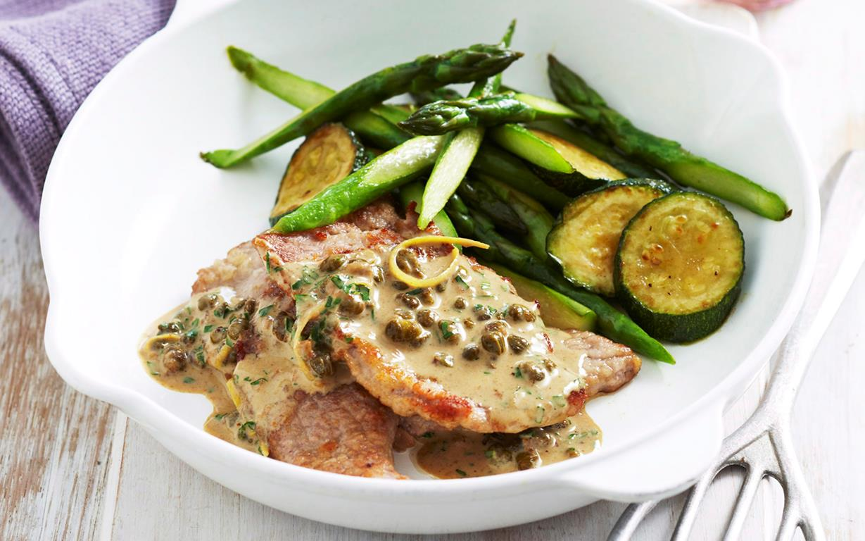 recipe: veal scaloppini with lemon cream sauce [29]