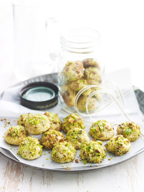 Marzipan and pistachio biscuits