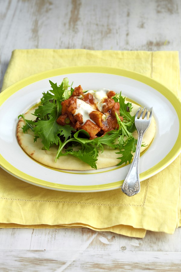 Naan curry wraps