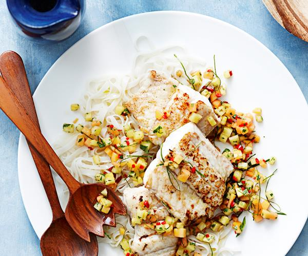 Poached Tilapia With Strawberry-Pineapple Salsa Recipe ...