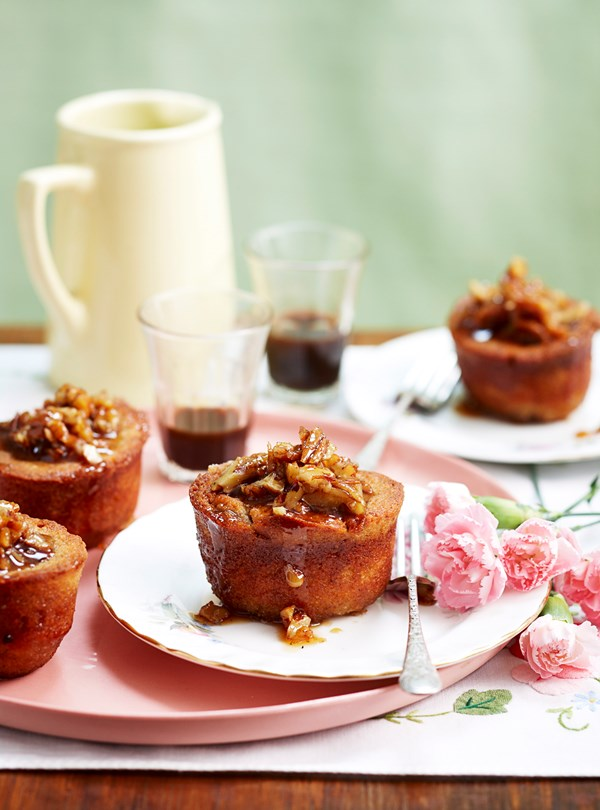 Pecan and maple friands