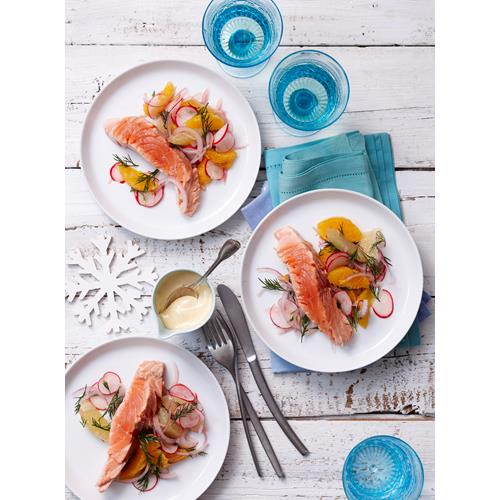 Poached salmon with citrus salad recipe | Food To Love