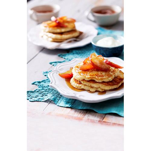 Buttermilk pancakes with maple apples recipe | Food To Love