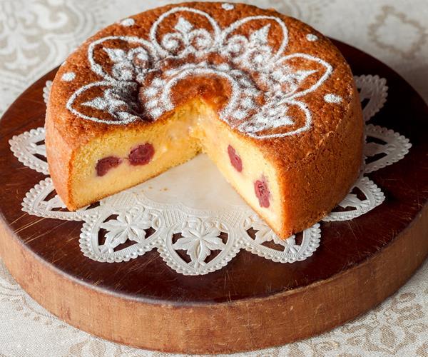 Sour cherry custard cake recipe | Food To Love