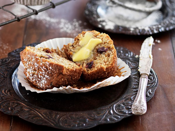 Cranberry and pecan bran muffins