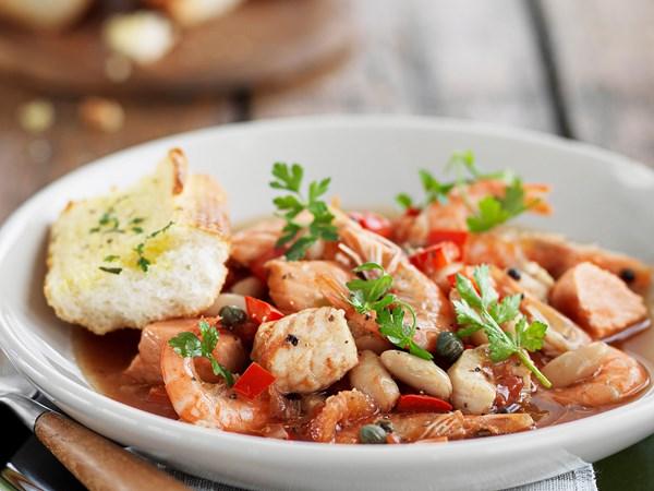 Mediterranean-style seafood stew