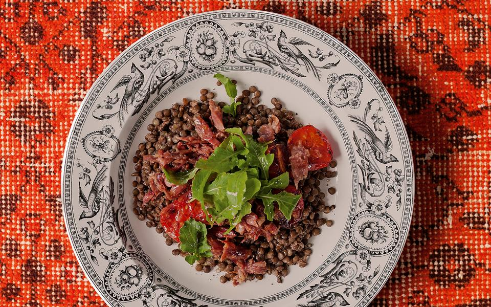 Bacon And Leek Lentils Recipes — Dishmaps
