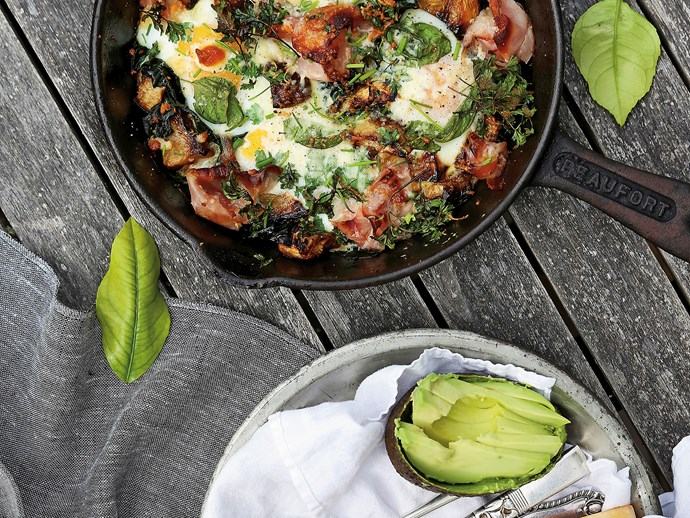 "Try our classic [herbed brekkie hash.](http://www.foodtolove.com.au/recipes/herbed-breakfast-hash-with-swede-pancetta-and-parmesan-20060|target=""_blank"")"