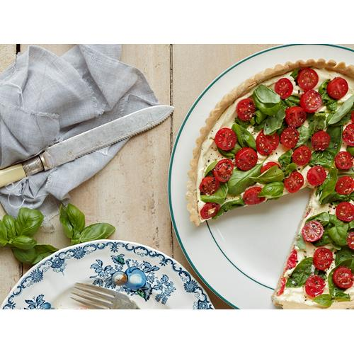 Cr me fra che tart with cherry tomato and buckwheat crust ...