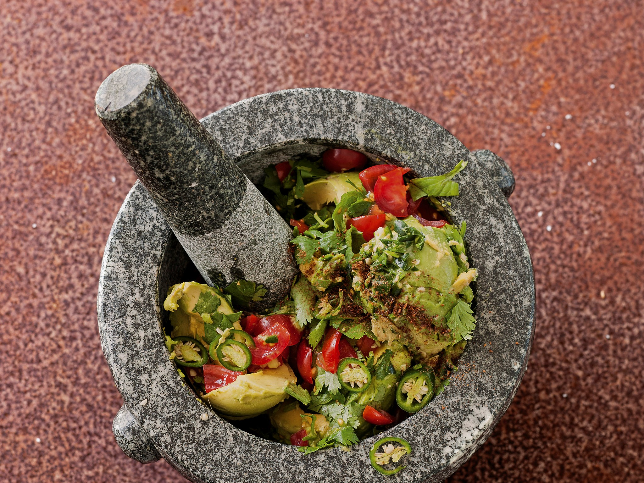 Guacamole with toasted cumin and lime