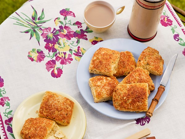 Tender cheese and herb scones