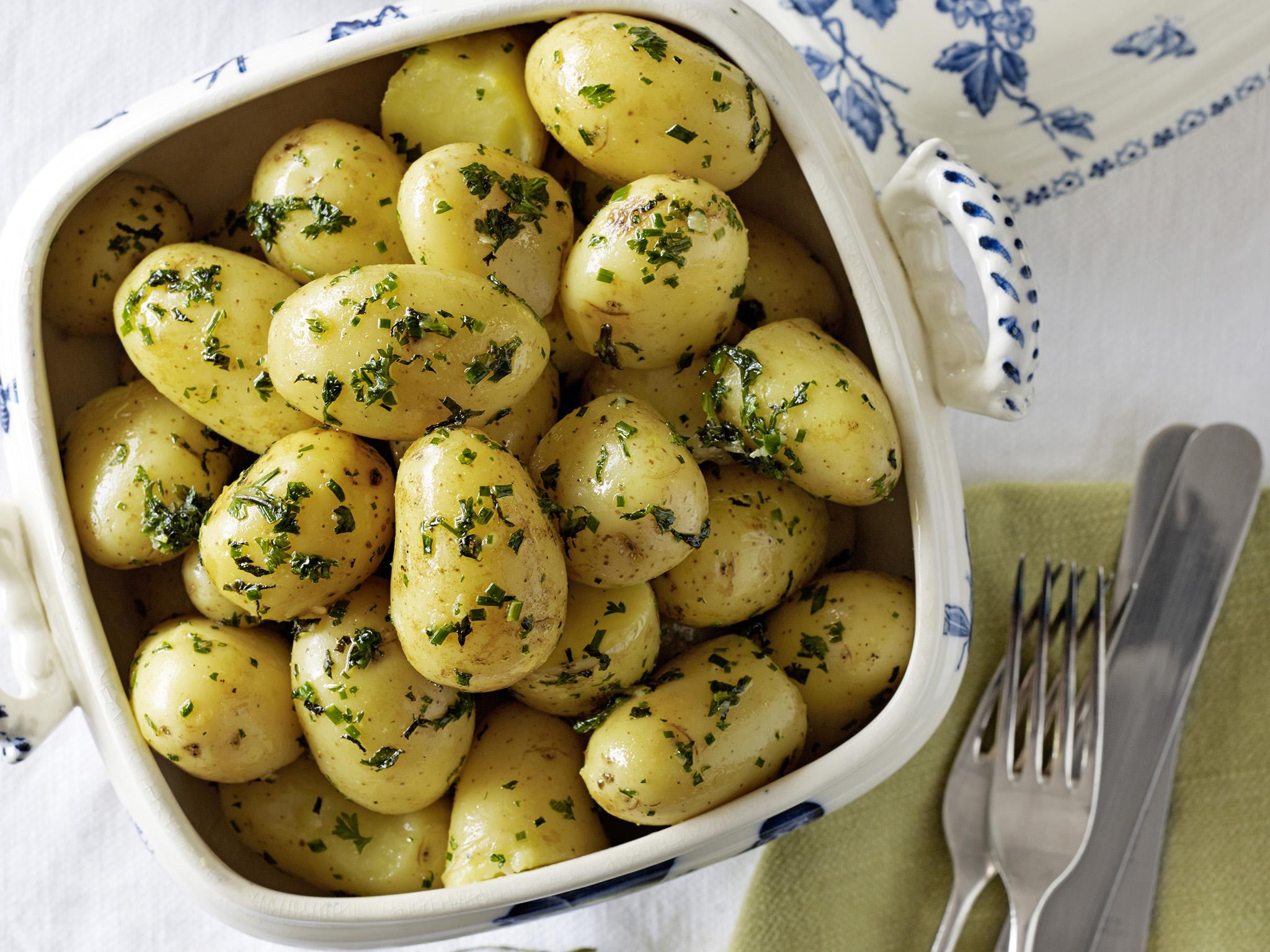 herb potatoes boiled