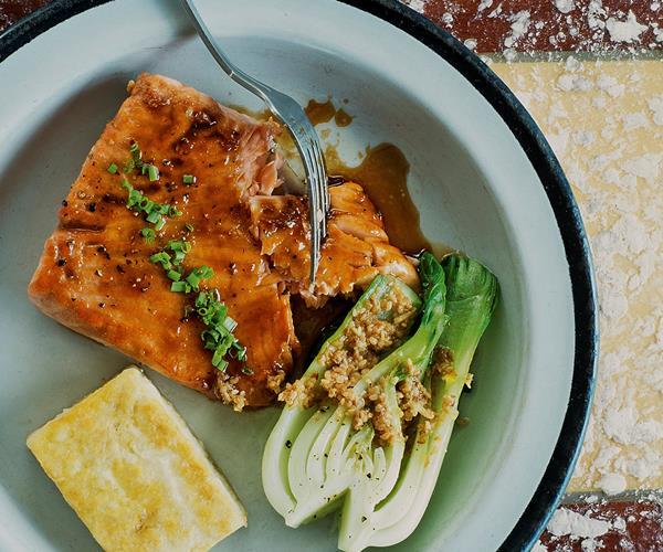 Miso-glazed salmon with sesame paste recipe | Food To Love