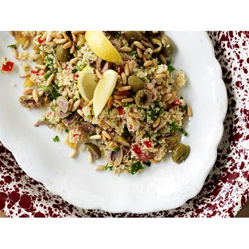 Couscous with green olives and pine nuts recipe | Food To Love