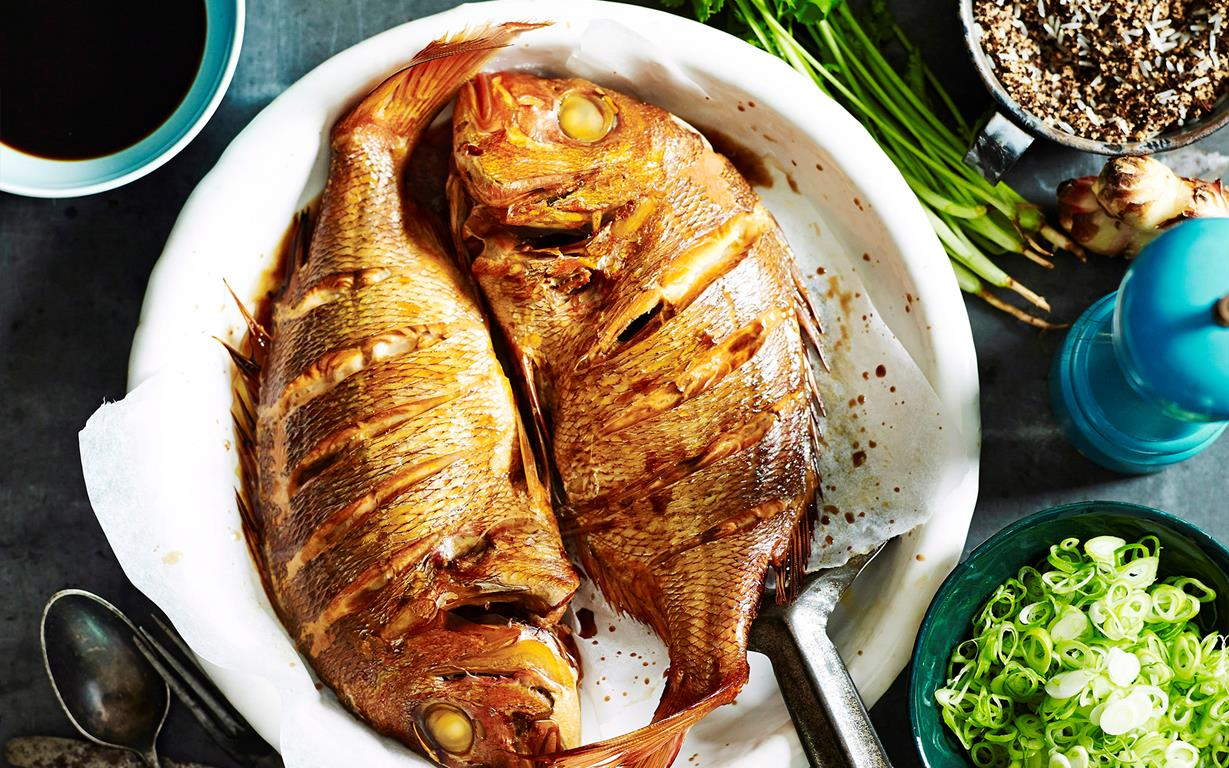 Whole Baked Snapper Recipe Food To Love