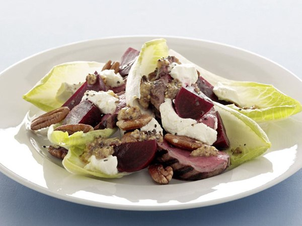 Beef, beetroot and witlof salad