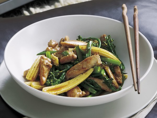 Chicken and oyster sauce stir-fry
