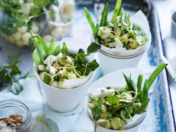 Chicken & watercress pasta salad