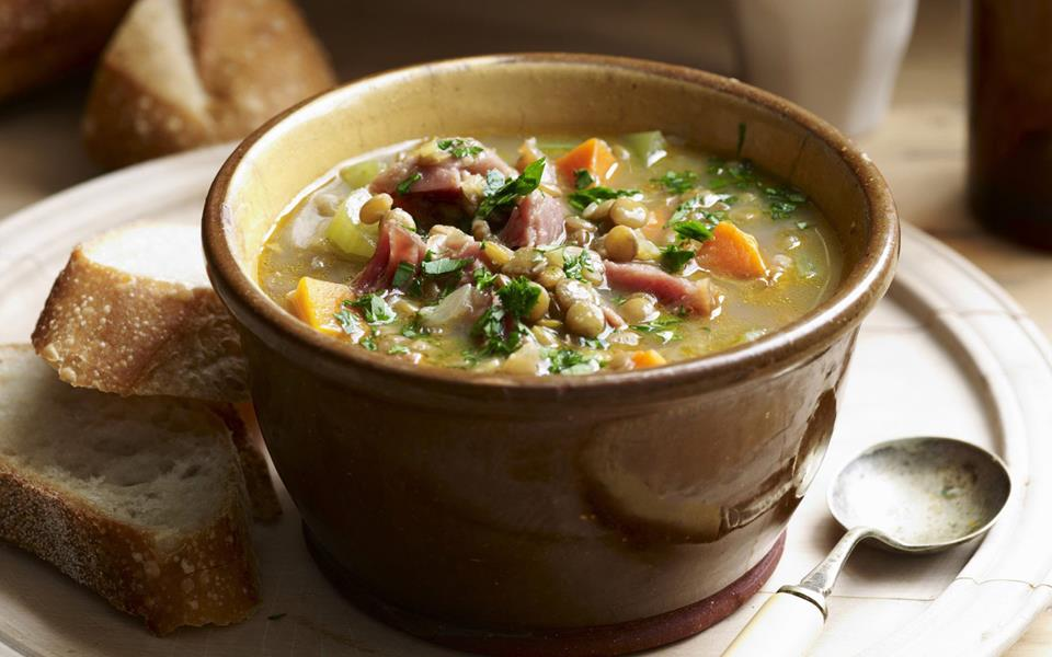Ham and lentil soup recipe | Australian Women's Weekly