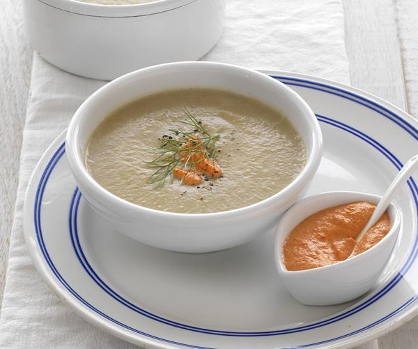 Cream of roasted fennel soup with capsicum aïoli recipe | Food To ...
