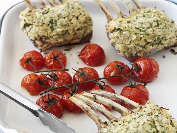 Herb-crumbed lamb racks