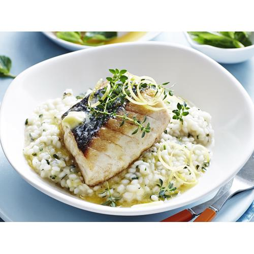 Oven-baked fish with lemon & mint risotto recipe | Food To Love