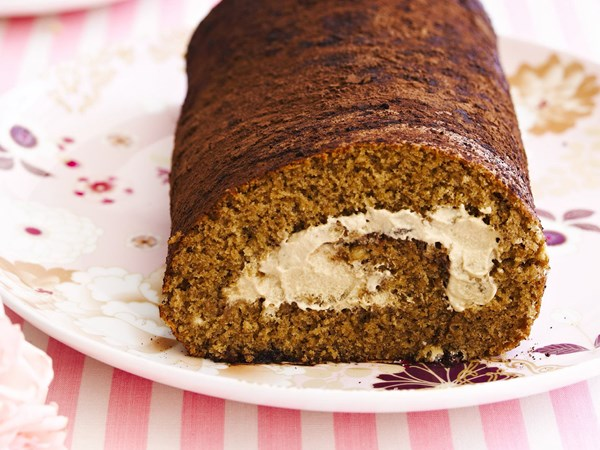 Coffee liqueur roll