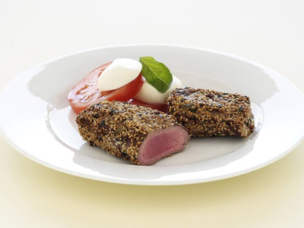 Sesame, chilli & parsley lamb
