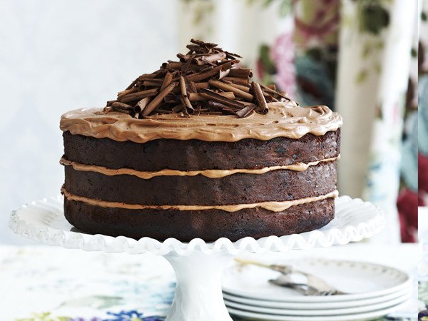 Chocolate, apricot and hazelnut cake