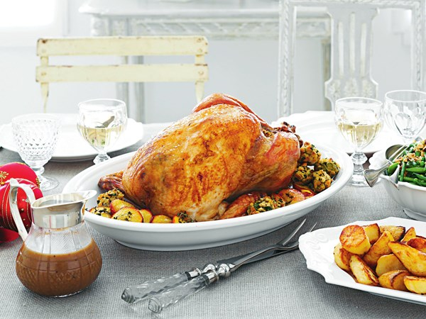 Turkey with lemon parsley stuffing
