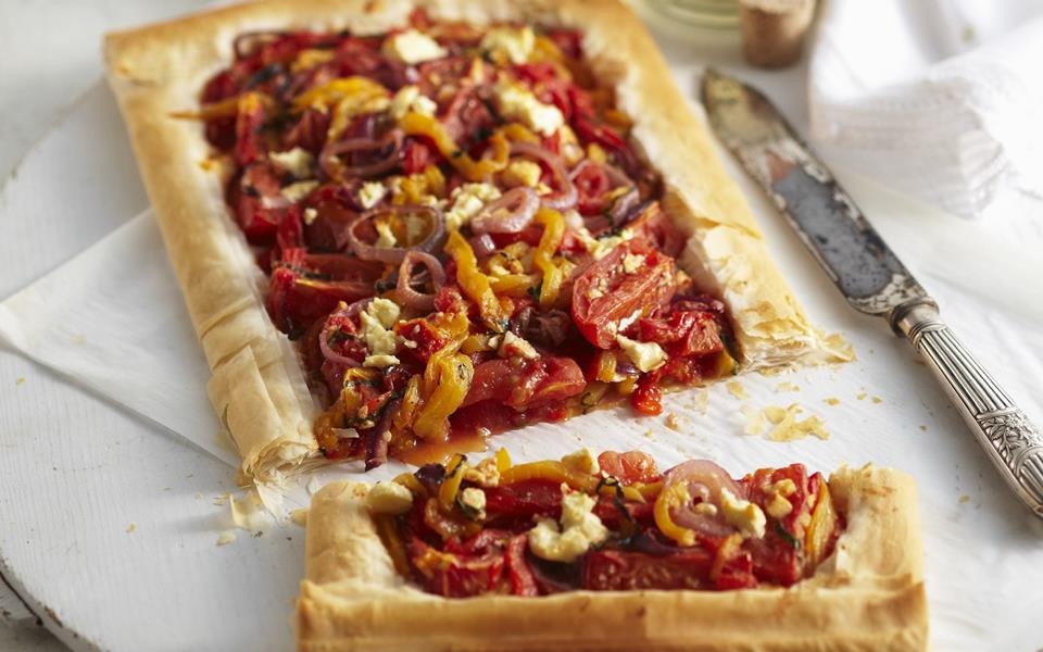 Roasted vegetable filo tart recipe | FOOD TO LOVE