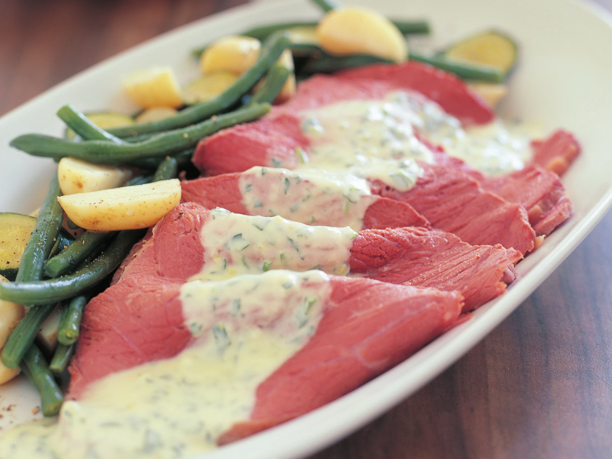 Traditional corned beef with horseradish white sauce recipe ..