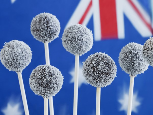 Australia day lamington pops
