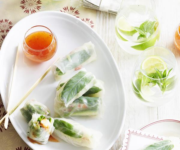 how to make prawn spring rolls