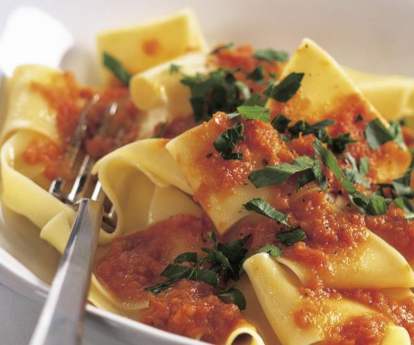 Pappardelle with chilli and semi-dried tomato sauce recipe | Food To ...
