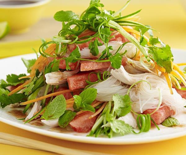 dishmaps crispy pork and watermelon salad watermelon salad watermelon ...