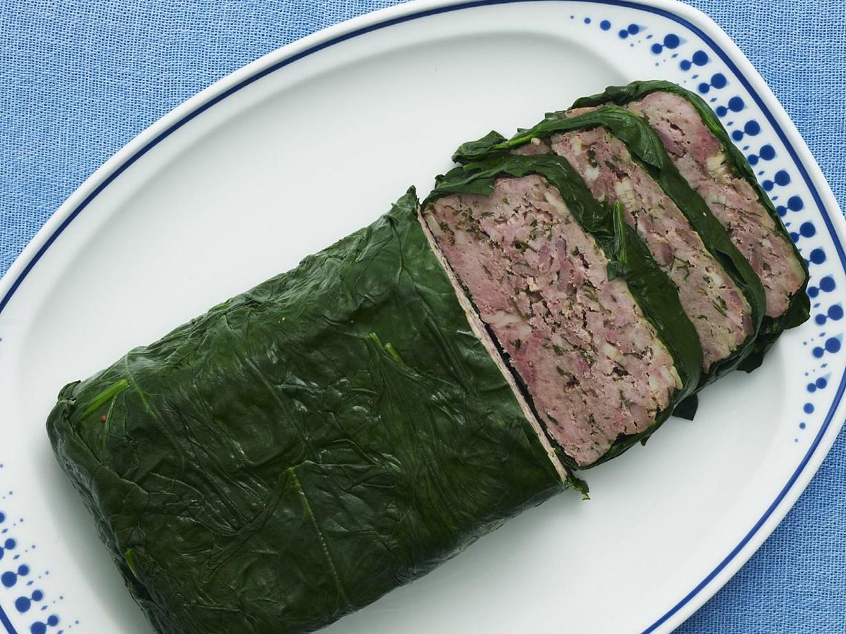 Farmhouse terrine with spinach recipe