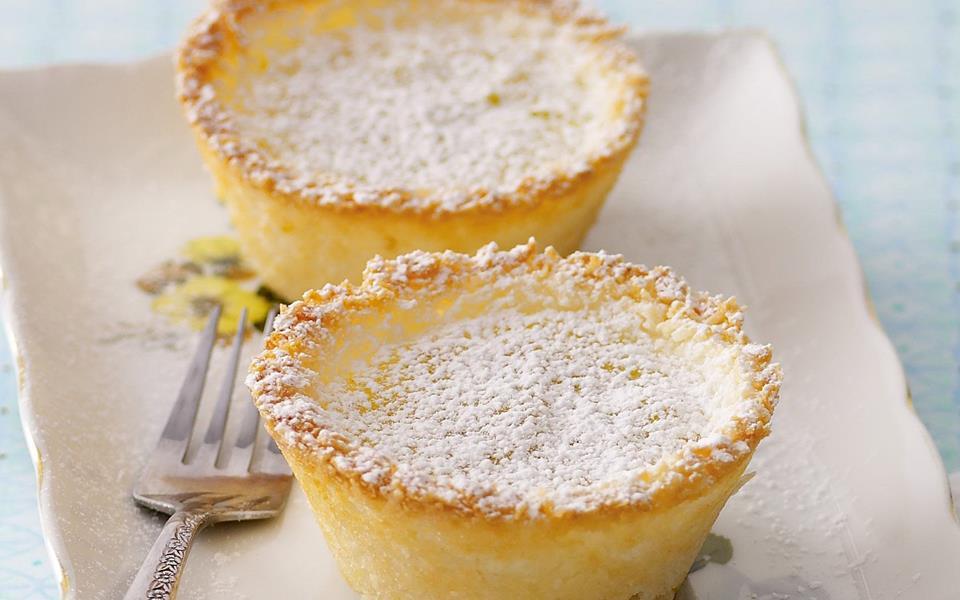 Baked coconut custard tarts recipe | FOOD TO LOVE