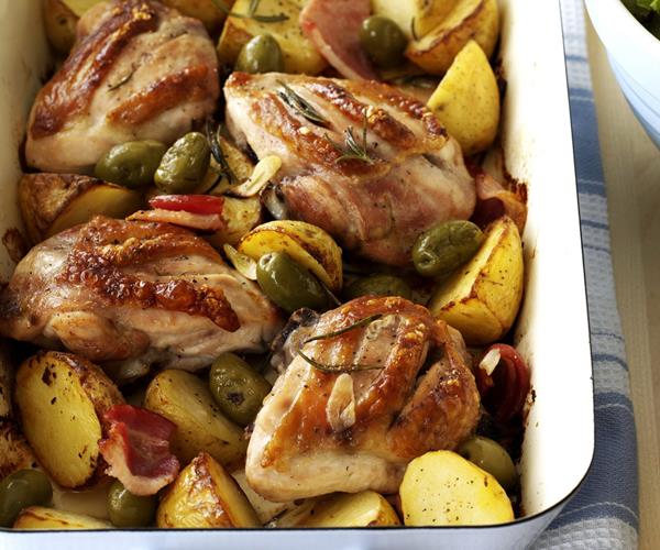 Chicken with garlic potatoes and rosemary recipe | Food To Love