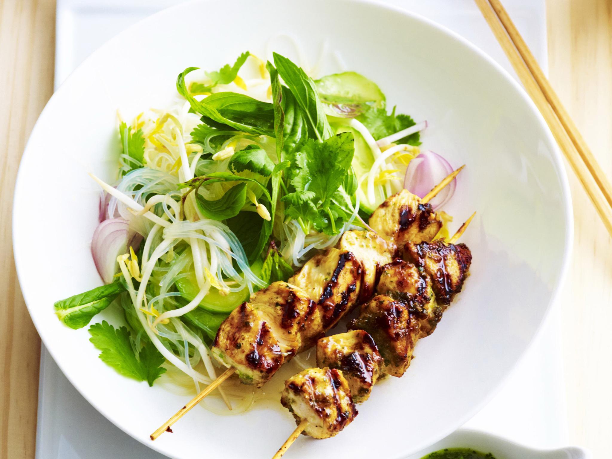 Rice noodle salad recipe chicken