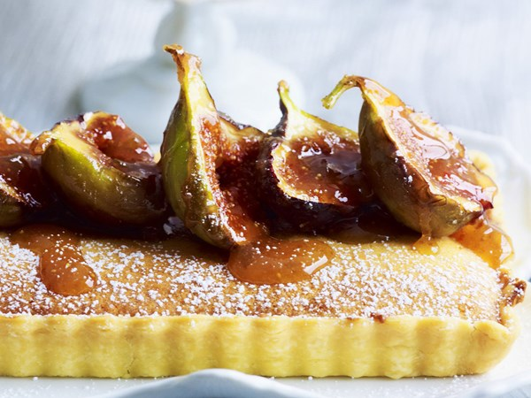 Frangipane tart with caramelised figs